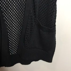 Chico's Sweaters - Chico's Weekends open knit black cardigan size 1